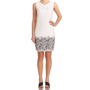 Elie Tahari White & Black Dress